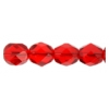 Fire Polished 7mm Transparent Siam Ruby